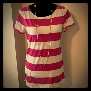 SO Tops - 🌼5 for $10 Pink and white striped top🌼